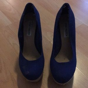 Blue wedges PRICE NEGOTIABLE